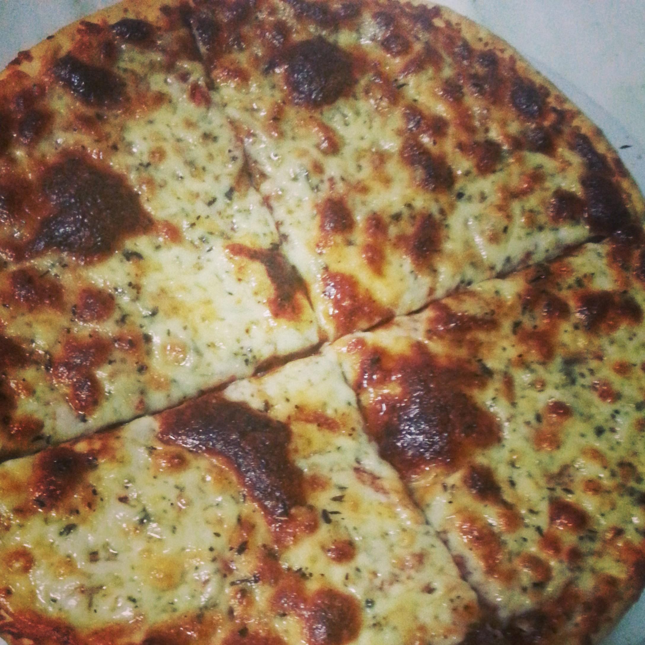 Endelig. Pizza med fire oste.